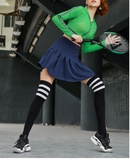 MIP MINI TENNIS SKIRT WITH MESH CROPPED HOODIE IN GREEN - boopdo