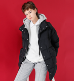 TOYOUTH HOODED CROPPED PUFFER JACKET WITH HOODIE DETAIL 8730912013 - boopdo
