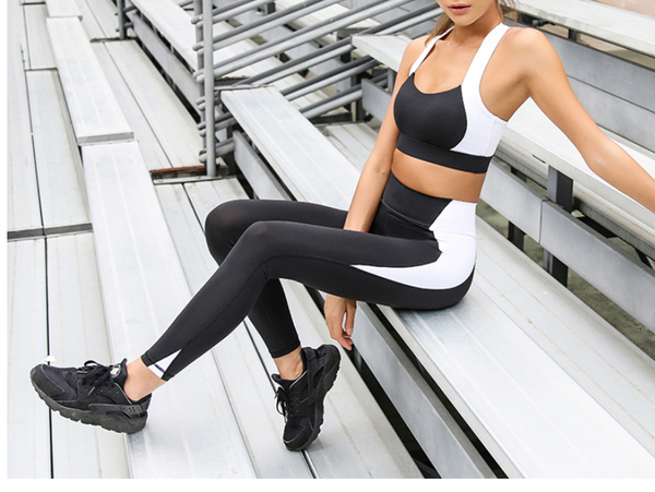 LANIKAR BLACK AND WHITE TRAINING LEGGING - boopdo