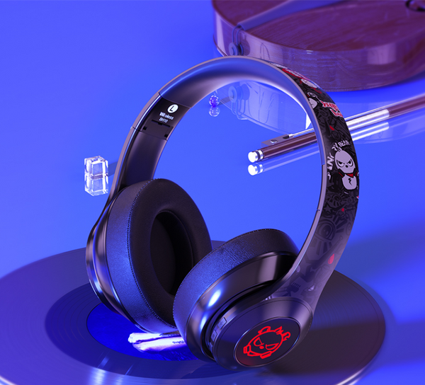 ANGRY BEAR STEREO BASS WIRELESS BLUETOOTH HEADPHONES - boopdo