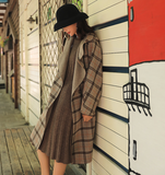 ARTKA LONG LINE CHECK HOODED COAT WITH PATCHED POCKET