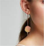 LITTLE JOYS STERLING SILVER GOLD PLATED ASYMMETRIC ABSTRACT SHAPES EARRINGS - boopdo