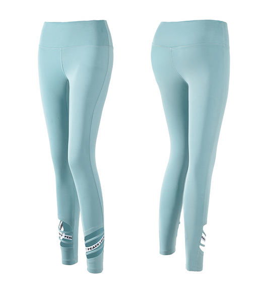 MIP ACTIVE STRAP DETAIL CROP LEGGINGS IN LIGHT BLUE