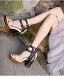 ARTMU DOUBLE BUCKLE DETAIL HEELED SANDALS