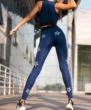 MIP STAR PRINT ALL OVER LEGGINGS IN DARK BLUE