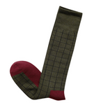 SEVEN DAYS CHECKERBOARD DESIGN KNEE SOCKS - boopdo