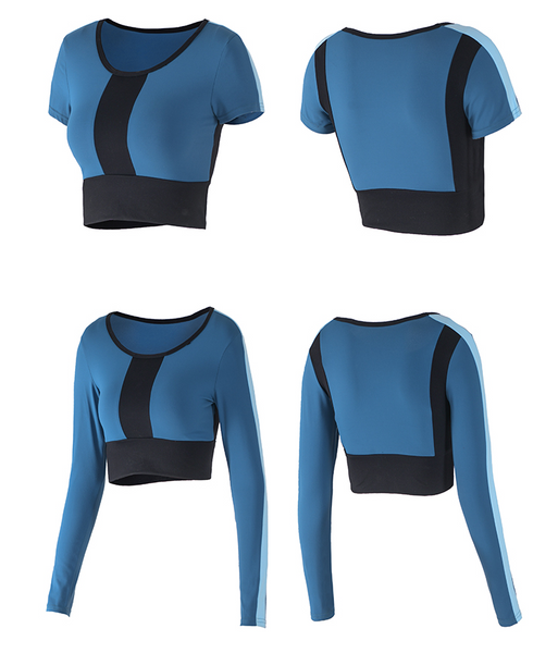 MIP COLOR BLOCK SPORTS CROP TOP - boopdo