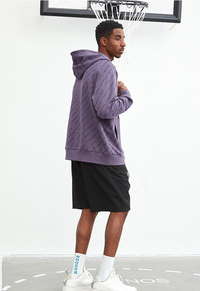ZONOS BASKETBALL PRINTED HOODIE SWEATSHIRT IN PURPLE - boopdo