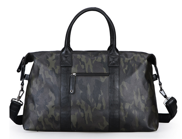 DRACONITE CAMOUFLAGE CASUAL WATERPROOF PU LEATHER SHOULDER TRAVEL BAG