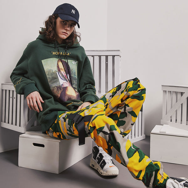 SHOW RICH MADE BY ABOW LIFE MULTI COLOR CAMOUFLAGE JOGGER PANTS - boopdo