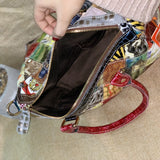 CAERLIF BOOPDO HANDMADE SNAKE LEATHER BAG IN MULTI COLOR