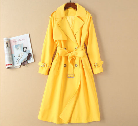 BBL DESIGN SELF BELT TALL TRENCH COAT