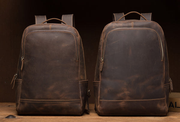MANTIME EUROXIA VINTAGE LEATHER TRAVEL BAG PACK - boopdo