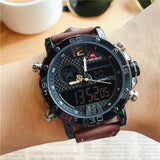 BOOPDO DESIGN DOUBLE DISPLAY MULTI FUNCTION WATERPROOF WATCHES