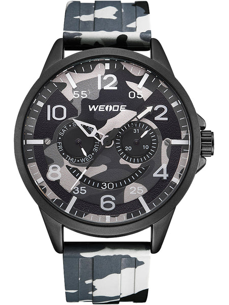 WEIDE GRAY CAMOUFLAGE WATERPROOF TAPE SHAPE WATCH