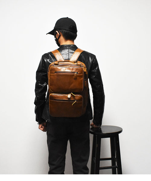 ZEFAN COCOSH MULTI FUNCTIONAL DUAL USE LEATHER BACKPACKS - boopdo