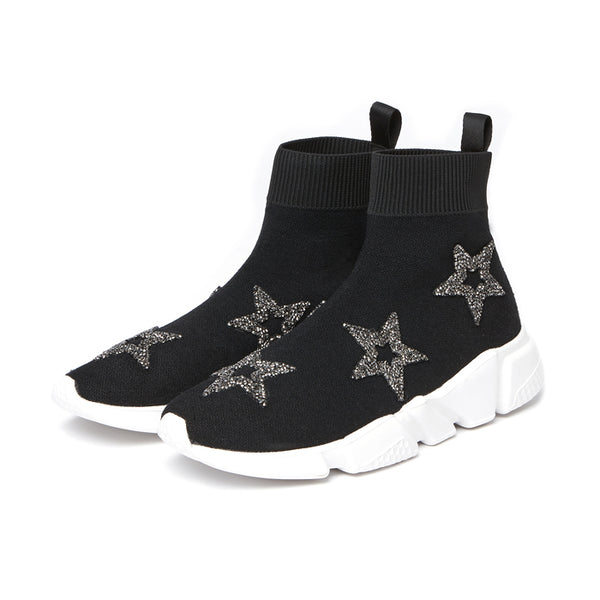 BOOPDO DESIGN SOCK TRAINERS WITH TWINKLE STARS - boopdo