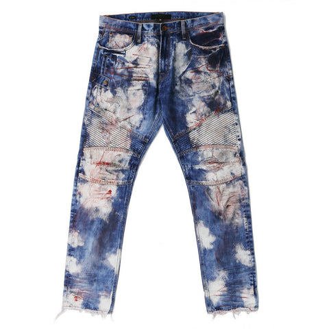 BOOPDO DENIM EDIE CROPPED JEAN WITH RIP DETAIL