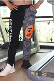 ZEZILA CAMO PRINT FITNESS PANTS IN CONTRAST COLOR - boopdo