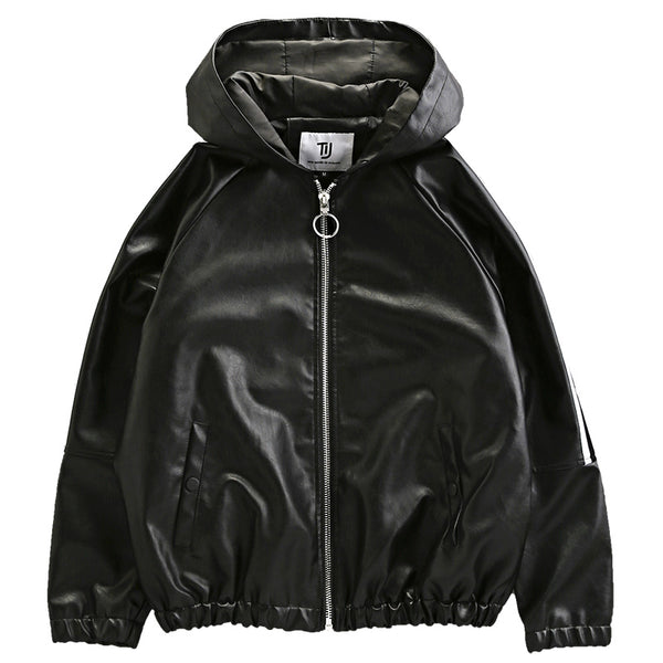 tj purpose tour hood systematic leather coat
