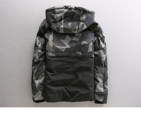 CAMOUFLAGE DESIGN BADGE JACKET IN CAMO WITH MA1 POCKET