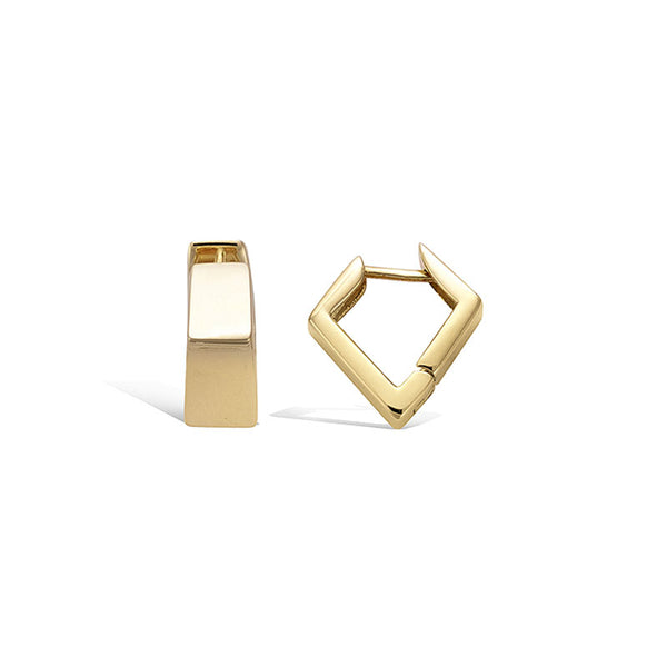 LITTLE JOYS 18K GOLD SQUARE SHAPE HOOP EARRINGS - boopdo