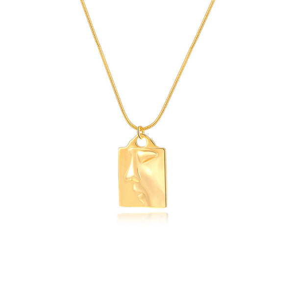 JELLY GIRL 18K GOLD DREAM BIG MEDALLION NECKLACE