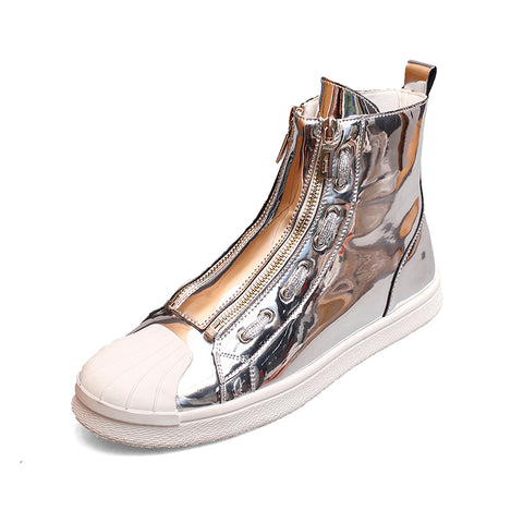 CHINOS ZEPPELIN VONGO LEATHER HIGH TOP SHOES WITH SHINY COLORS