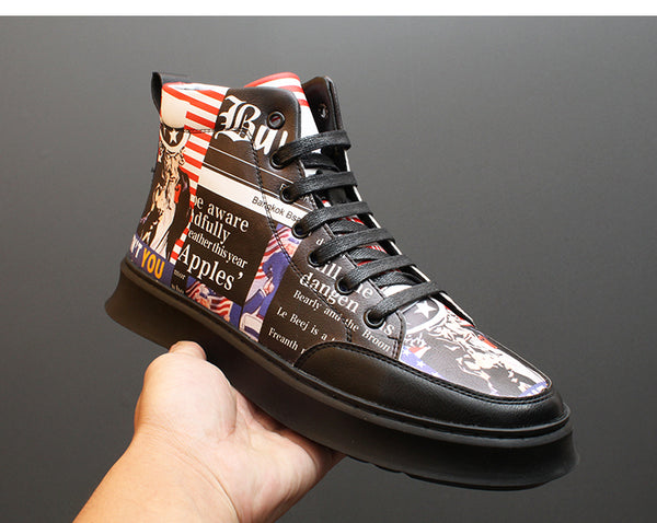 UNCLE SAM WANTS YOU TO AMERICA OLD SCHOOL SHOES WITH CHUNKY SOLE