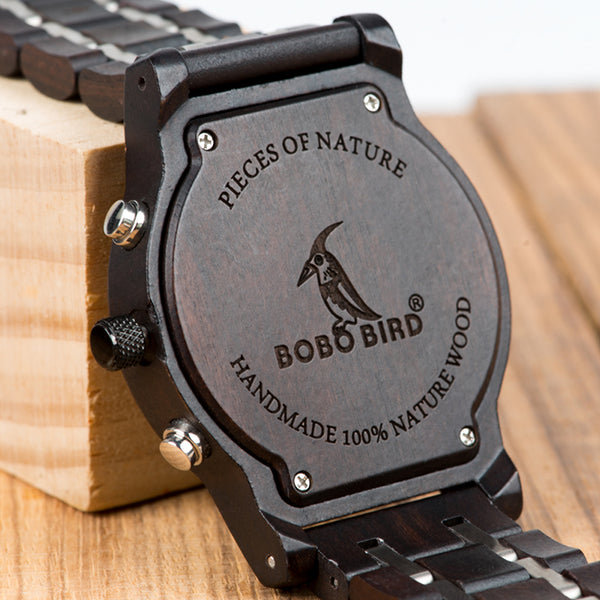 BOBO BIRD CARMO OPTICA WOODEN WATCH IN CAMOUFLAGE