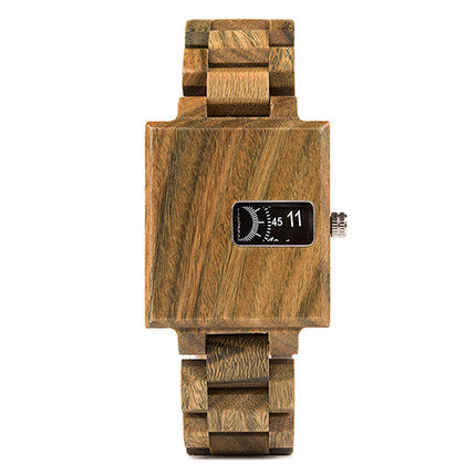 Bobo Bird Handmade Square Design Wooden Watch With delicate Small Dial Display