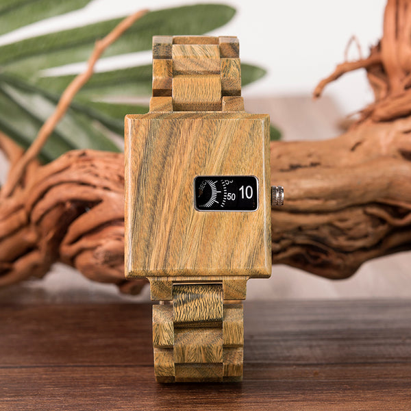 BOBO BIRD HANDMADE SQUARE DESIGN WOODEN WATCH