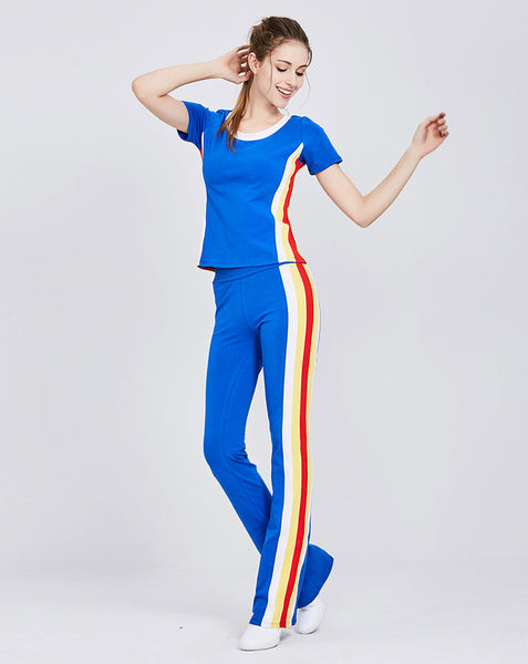 CAGGEEN TRACK PANTS WITH CONTRAST STRIPE - boopdo