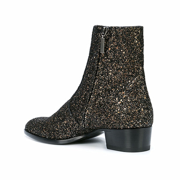 CIROSIMON CATWALK TOE POINTED NIGHT CLUB CHELSEA BOOTS