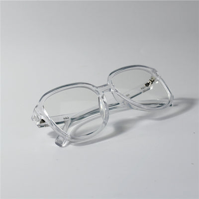 MAZDO TRANSPARENT LARGE FRAME ANTI BLU RAY SUNGLASSES - boopdo