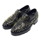 jiniwu vanguard handmade platform shoes with gold rivet