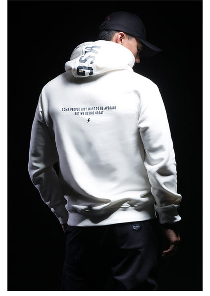 MONSTER GUARDIANS WHITE HOODIE WITH LOGO PRINT
