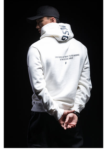 MONSTER GUARDIANS WHITE HOODIE WITH LOGO PRINT - boopdo
