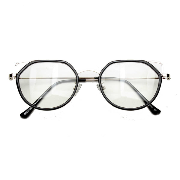 VUREX BOOPDO DESIGN TRANSPARENT FLAT FRAME SUNGLASSES