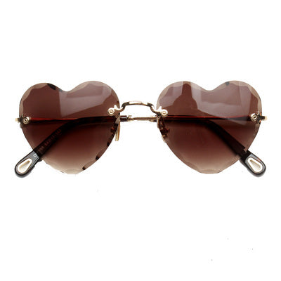 PLATIX IRREGULAR CUTE HEART SHAPED ANTI UVA SUNGLASSES - boopdo