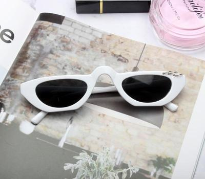 BOOPDO DESIGN FLIRTY RIMLESS CAT EYE SUNGLASSES - boopdo