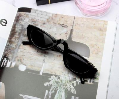 BOOPDO DESIGN FLIRTY RIMLESS CAT EYE SUNGLASSES
