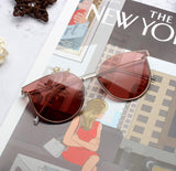 THE YORK MAGAZINE ANTI UVA UVB ROUND FACE SUNGLASSES - boopdo