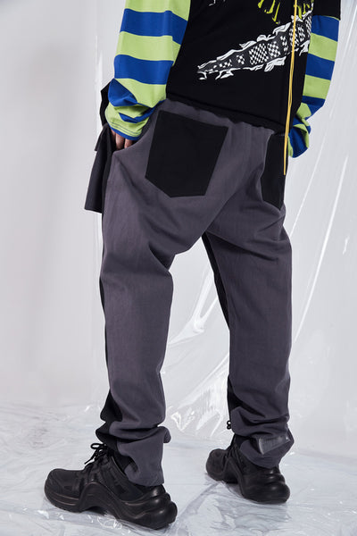 SHOW RICH GUOCHOZ DESIGNED BY ABOW LIFE ZIPPER MULTI POCKET CASUAL SWEATPANTS