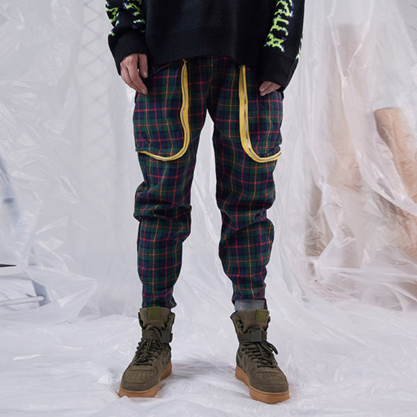 SHOW RICH GUOCHOZ DESIGNED BY ABOW LIFE CHECKER PLAID SWEATPANTS - boopdo