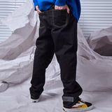 SHOW RICH CHAOGUO BANDWIDTH DENIM JEANS PANTS - boopdo