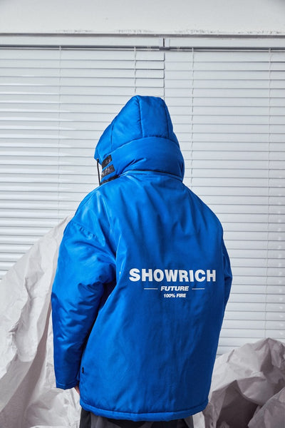SHOW RICH MADE BY ABOW LIFE LARGE POCKET THICK DOWN HOODED JACKET - boopdo
