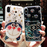 DOREMONG EPOXY CARTOON EMBOSSED APPLE IPHONE COVERS - boopdo