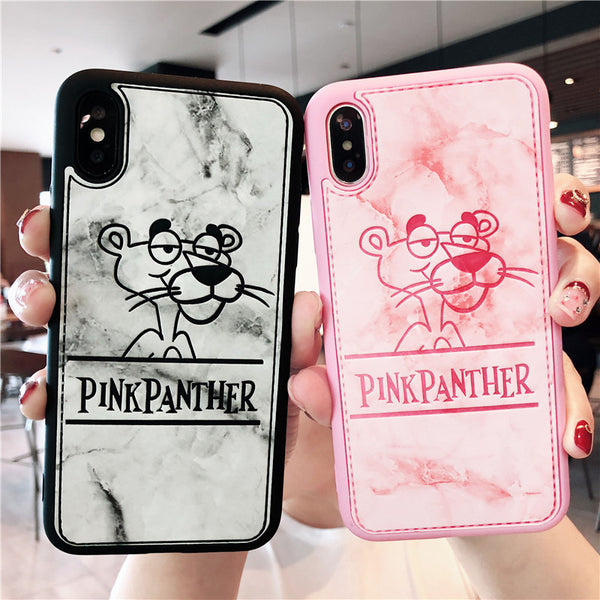 BOOPDO DESIGN NAUGHTY PANTHER CARTOON EMBOSSED APPLE IPHONE CASES - boopdo