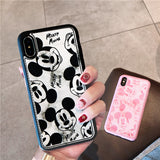 MICKELOY CARTOON FAUX LEATHER APPLE IPHONE CASES - boopdo